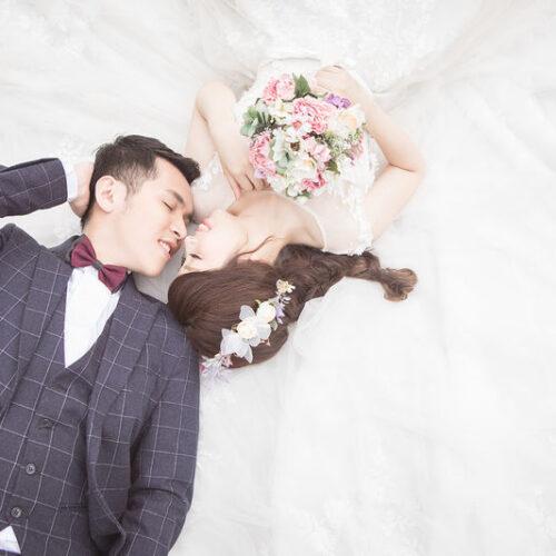 桃園-晶綻囍事,充滿幸福的婚紗照:)